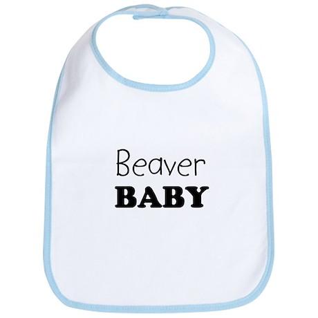 Beaver baby Bib