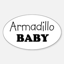 Armadillo baby Oval Decal