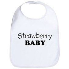 Strawberry baby Bib