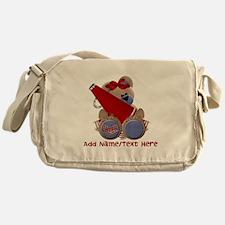 Teddy Cheerleader (red) Messenger Bag