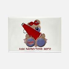 Teddy Cheerleader (red) Rectangle Magnet