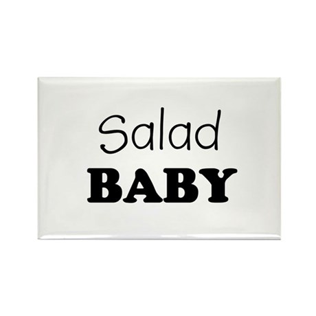 Salad baby Rectangle Magnet