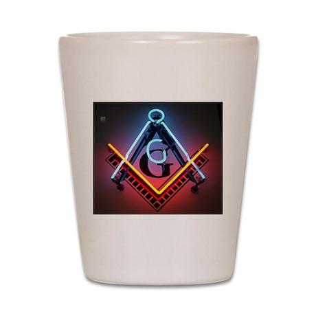Neon Blue Lodge Shot Glass