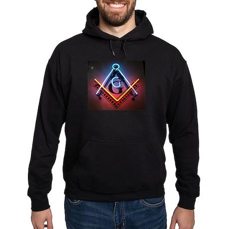 Neon Blue Lodge Hoodie (dark)
