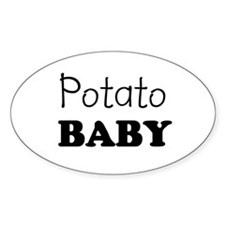 Potato baby Oval Decal