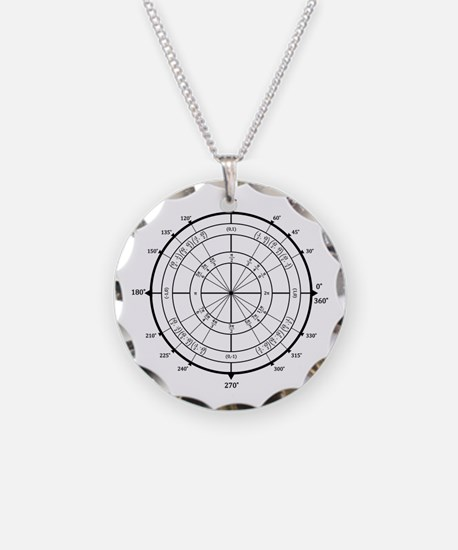 Math Geek Unit Circle Necklace Circle Charm