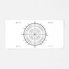Math Geek Unit Circle Aluminum License Plate