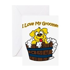 I Love My Groomer Greeting Card
