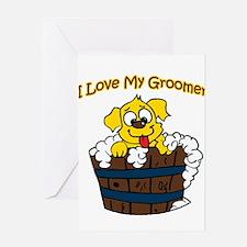 I Love My Groomer Greeting Card