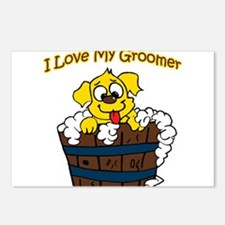 I Love My Groomer Postcards (Package of 8)