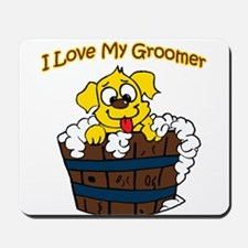 I Love My Groomer Mousepad