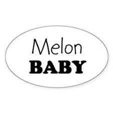 Melon baby Oval Decal