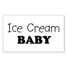 Ice Cream baby Rectangle Decal