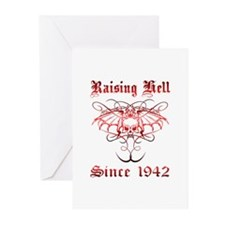 Raising Hell Since 1942 Greeting Cards (Pk of 10)