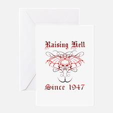 Raising Hell Since 1947 Greeting Card