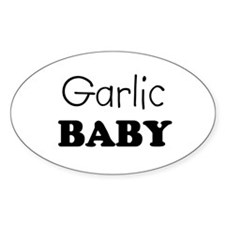 Garlic baby Oval Decal