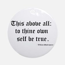 Shakespeare Ornament (Round)