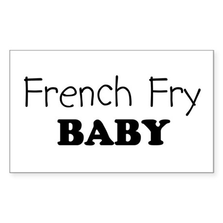 French Fry baby Rectangle Sticker