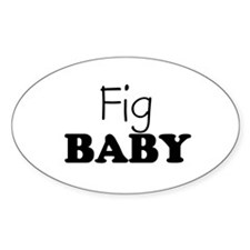 Fig baby Oval Decal