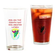 latkes Drinking Glass