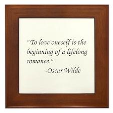 Oscar Wilde Framed Tile