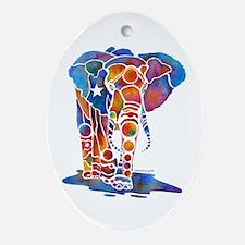 Whimzical Emma Elephant Oval Ornament