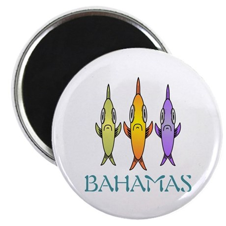 Bahamas 3-fishes Magnets
