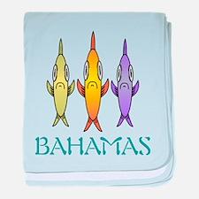 Cute Bahamas baby blanket