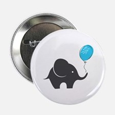 "Elephant with balloon 2.25"" Button"