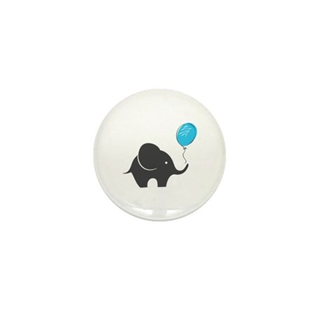Elephant with balloon Mini Button (10 pack)