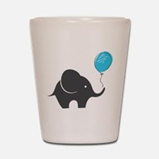 Elephant with balloon Shot Glass