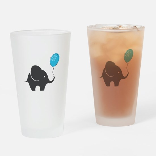 Elephant with balloon Drinking Glass