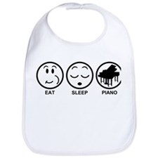 Eat Sleep Piano Bib