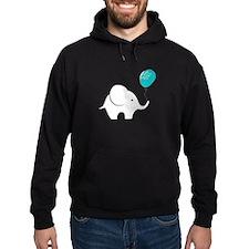 Elephant with balloon Hoodie