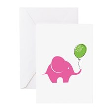 Elephant with balloon Greeting Cards (Pk of 20)