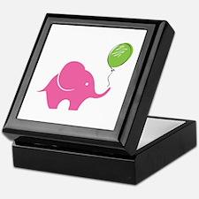 Elephant with balloon Keepsake Box