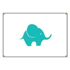 Elephant with balloon Banner