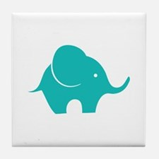 Elephant with balloon Tile Coaster