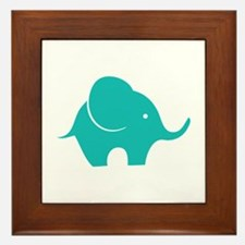Elephant with balloon Framed Tile