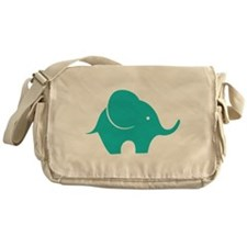 Elephant with balloon Messenger Bag
