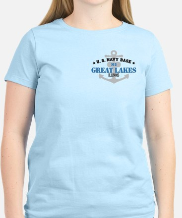 US Navy Great Lakes Base Women's Light T-Shirt
