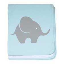 Elephant with balloon baby blanket