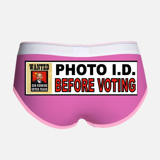 VOTE OFTEN Women's Boy Brief
