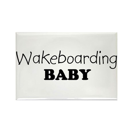 Wakeboarding baby Rectangle Magnet