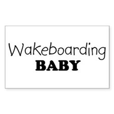 Wakeboarding baby Rectangle Decal