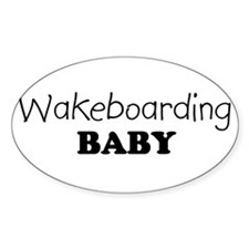 Wakeboarding baby Oval Decal