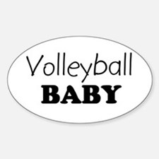Volleyball baby Oval Decal