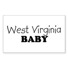 West Virginia baby Rectangle Decal