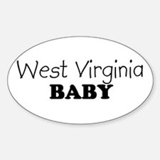 West Virginia baby Oval Decal