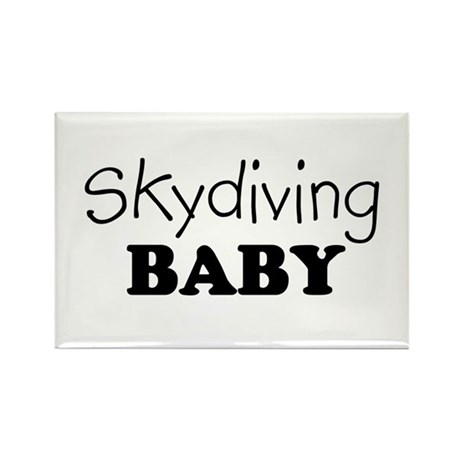 Skydiving baby Rectangle Magnet
